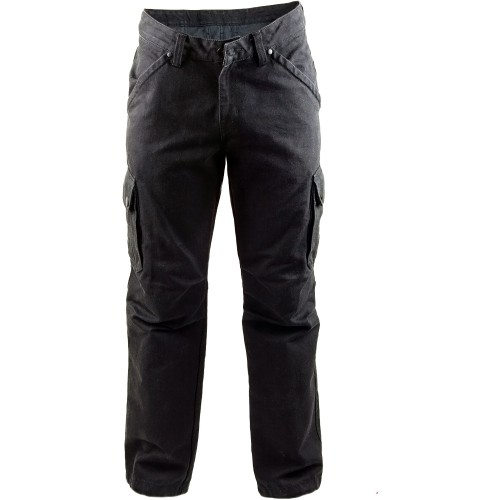 King Kerosin Denim Aramid Jeans Red Baron schwarz