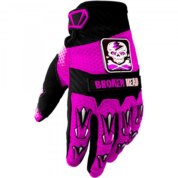 Broken Head MX-Handschuhe Faustschlag Pink