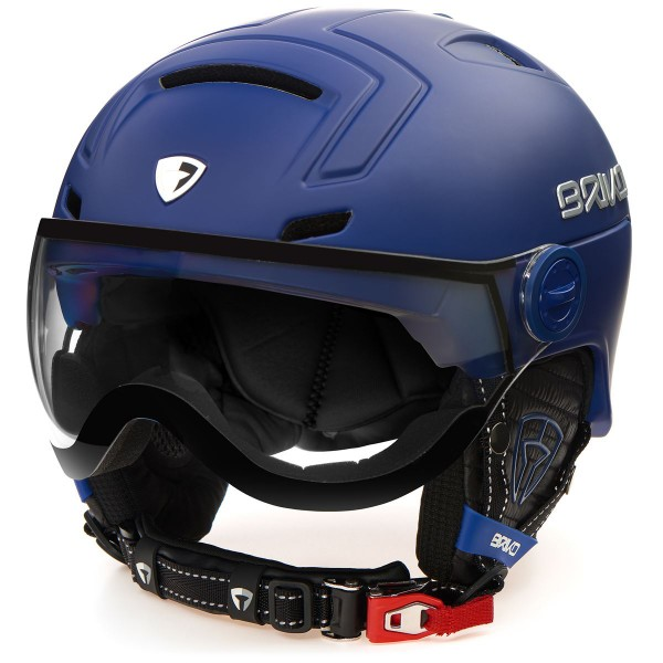 Briko Skihelm Stromboli Visor Photo blau matt