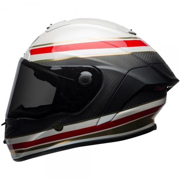 Bell Race Star Formular Weiß-Rot
