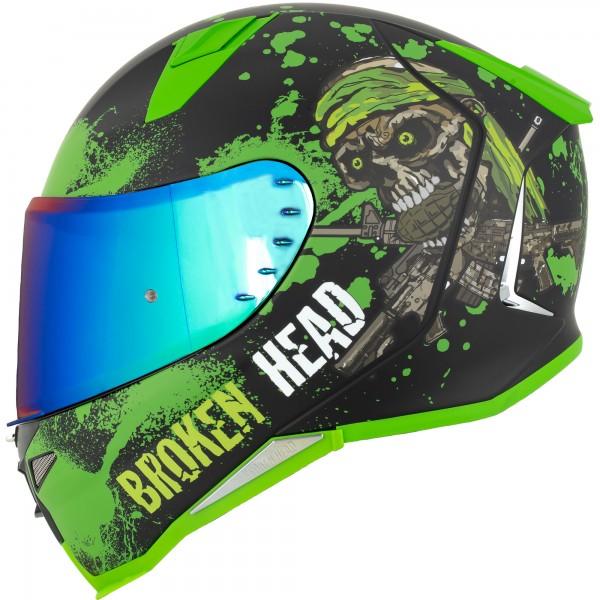 Broken Head Jack S. V2 Pro Grün SET + gratis grün verspiegeltes Visier