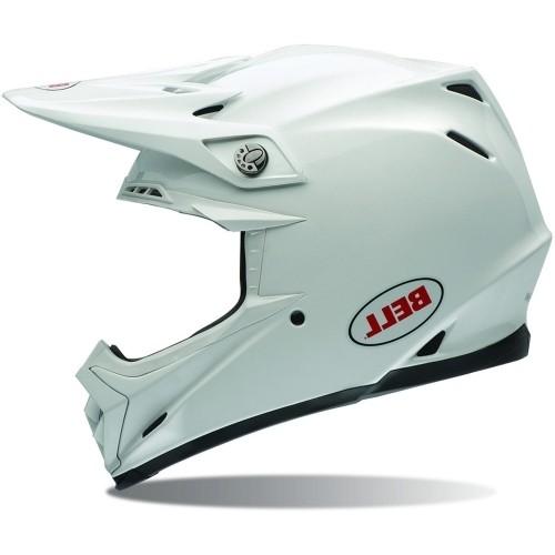 Bell Moto-9 Flex Carbon Solid Weiß