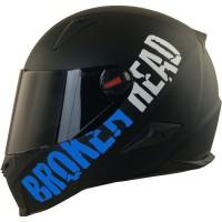 Broken Head BeProud Blau Set Motorradhelm incl. schwarzem Visier