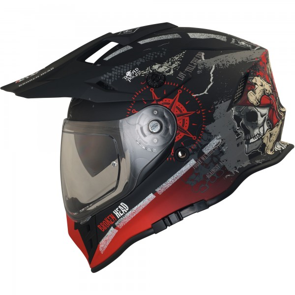 Broken Head Endurohelm Road Pirate VX2 Rot