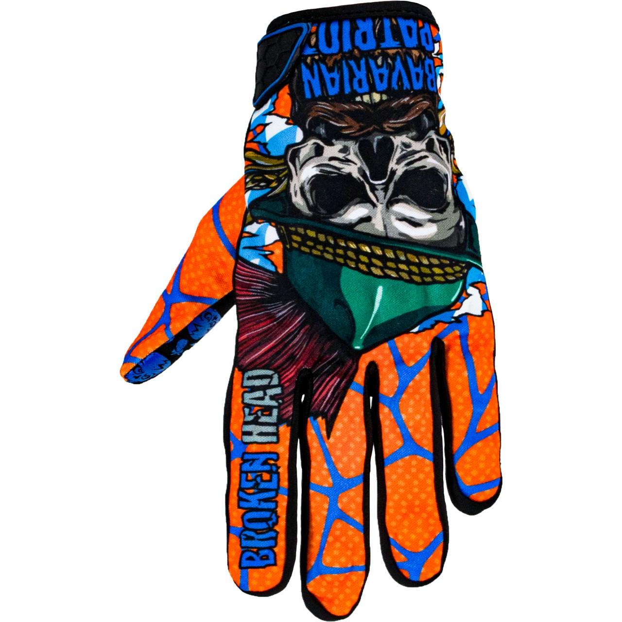 Bekleidung|Handschuhe Broken Head MX Handschuhe Bavarian Patriot Orange