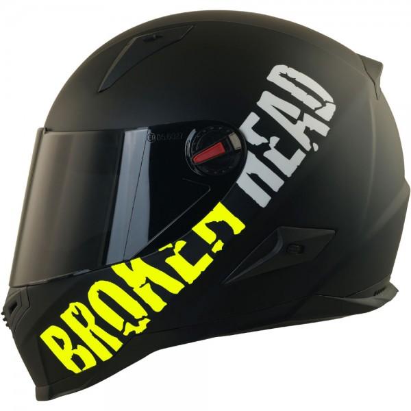 Broken Head BeProud Gelb Set Motorradhelm incl. schwarzem Visier