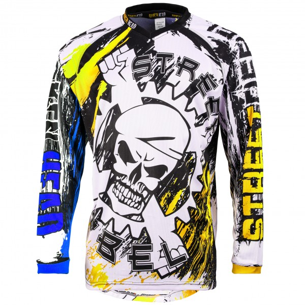 Broken Head MX Jersey Street Rebel blau-gelb