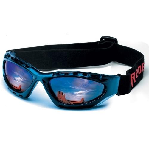 Motorradbrille Redbike Plus blau verpiegelt
