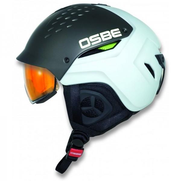OSBE Hybrid titan-weiss Skihelm mit Visier selbst-tönend