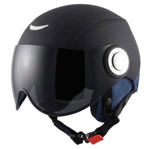 OSBE Ski-Helm Force II Leder schwarz Jeanslook (S)