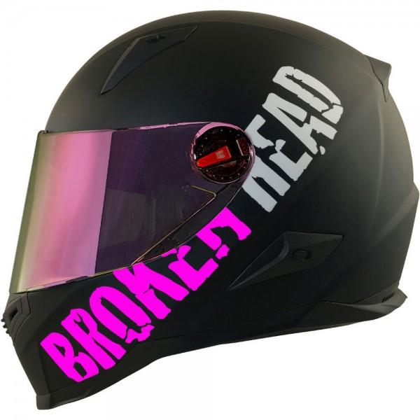 Broken Head BeProud Pink Set Motorradhelm incl. rosegold verspiegeltem Visier | Mirror Edition