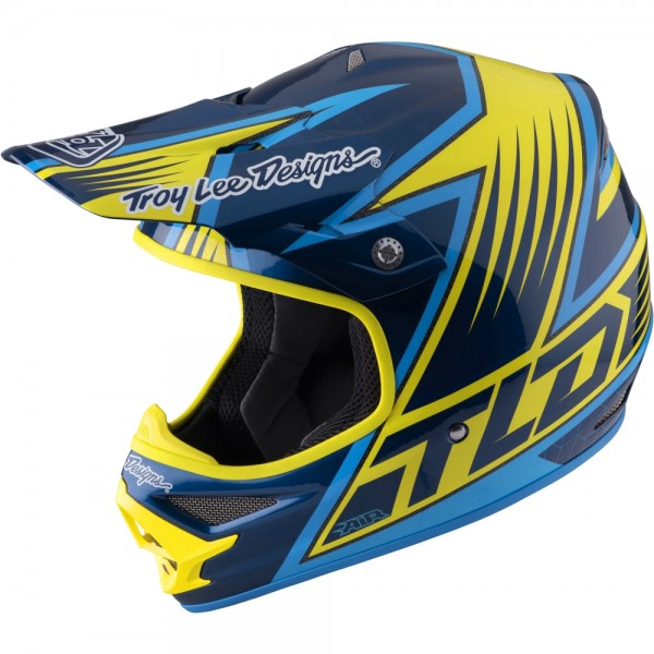 Troy Lee Designs Air Light Vengence Yellow MX Helm