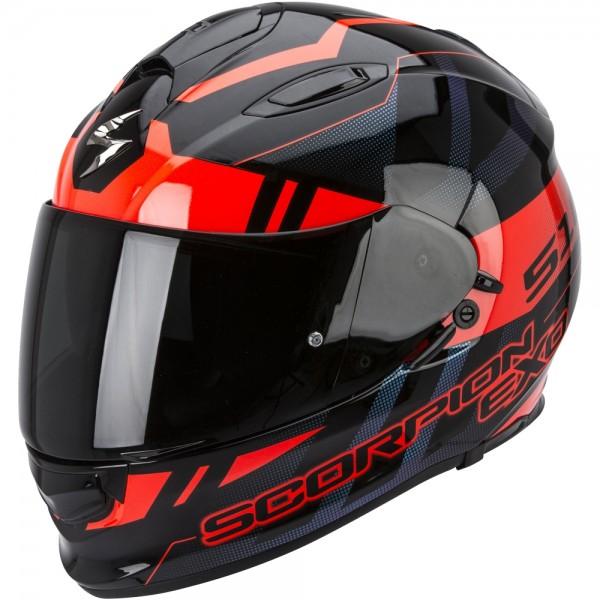 Scorpion EXO 510 Stage Schwarz Rot
