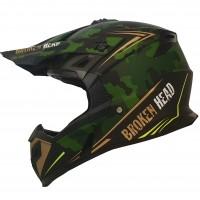 Broken Head Crosshelm Squadron Rebelution Camouflage-Grün-Gold