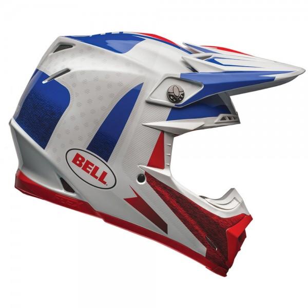Bell Moto-9 Flex Vice Blau Rot