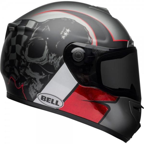 Bell SRT Hart Luck Charcoal Weiß-Rot