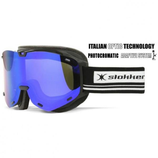 Slokker Skibrille SLK RT Photochrom schwarz-blau