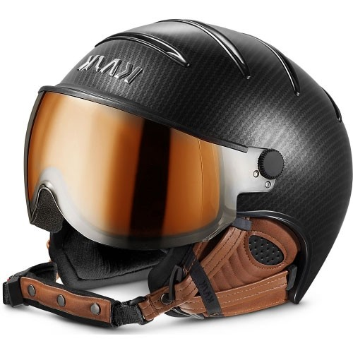 Kask Skihelm Elite Pro II Carbon Brown photochromatic