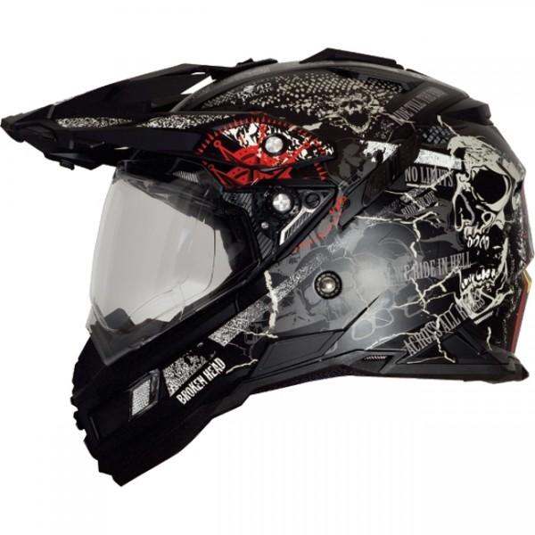 Broken Head Road Pirate Black Edition Enduro Helm (S)