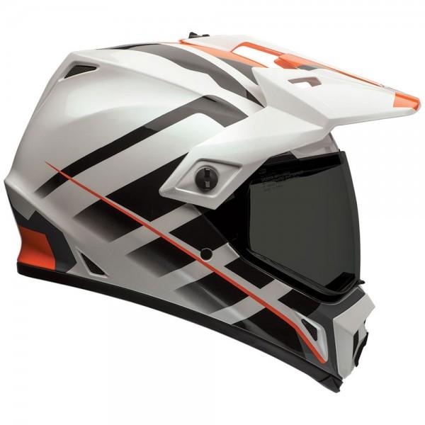 Bell MX-9 Adventure Raid Orange Weiss