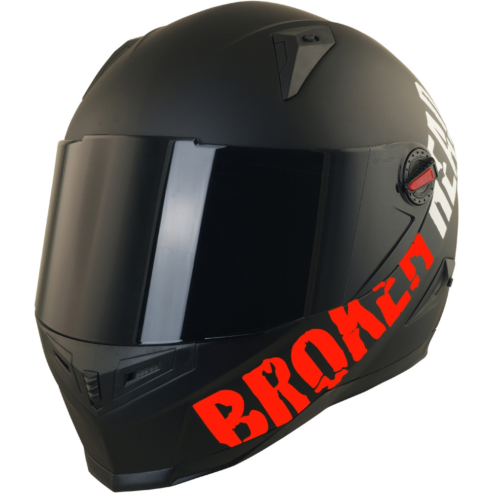 broken head beproud rot set motorradhelm incl schwarzem. Black Bedroom Furniture Sets. Home Design Ideas