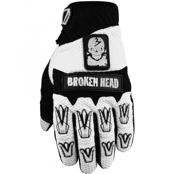 Broken Head MX-Handschuhe Faustschlag Weiß