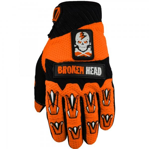 Broken Head MX-Handschuhe Faustschlag Orange
