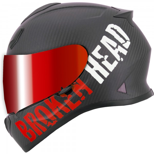 Broken Head BeProud Carbon Rot Limited Edition inkl. rot verspiegeltem Visier