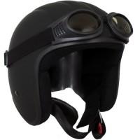 Sting Helme Sting Invador schwarz matt mit Brille