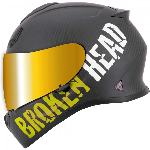 Broken Head BeProud Carbon Gelb Limited Edition inkl. gold verspiegeltem Visier