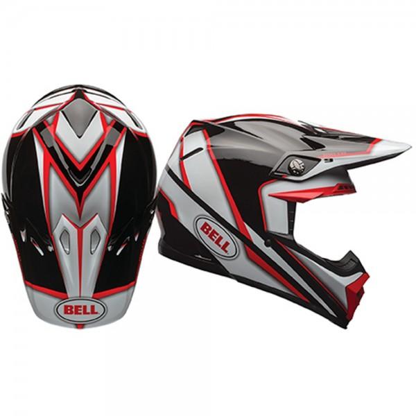 Bell Moto-9 Spark Rot Schwarz