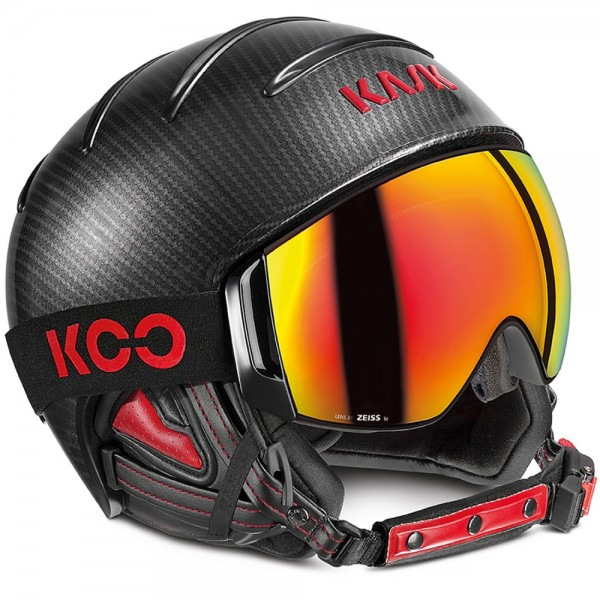Kask Skihelm Combo Elite Pro Carbon black-red