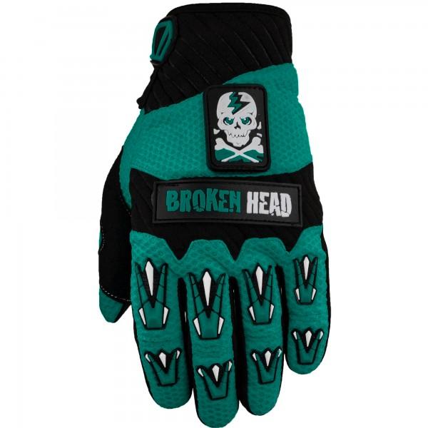 Broken Head MX-Handschuhe Faustschlag Petrol