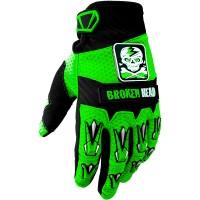 Broken Head MX-Handschuhe Faustschlag Grün