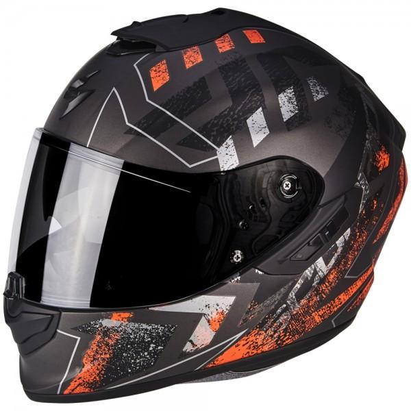 Scorpion EXO-1400 Air Picta Silber-Neonorange