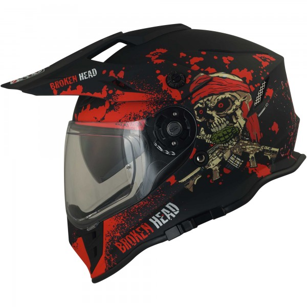 Broken Head Enduro Helm Jack S. VX2 Rot