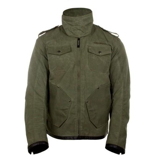 King Kerosin Speedswat Biker-Jacke Militär Grün