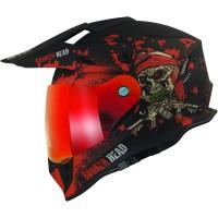 Broken Head Enduro Helm Jack S. VX2 Rot SET inkl. rot verspiegeltem Visier