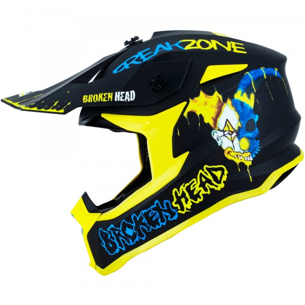 Broken Head Crosshelm Freakzone blau-gelb