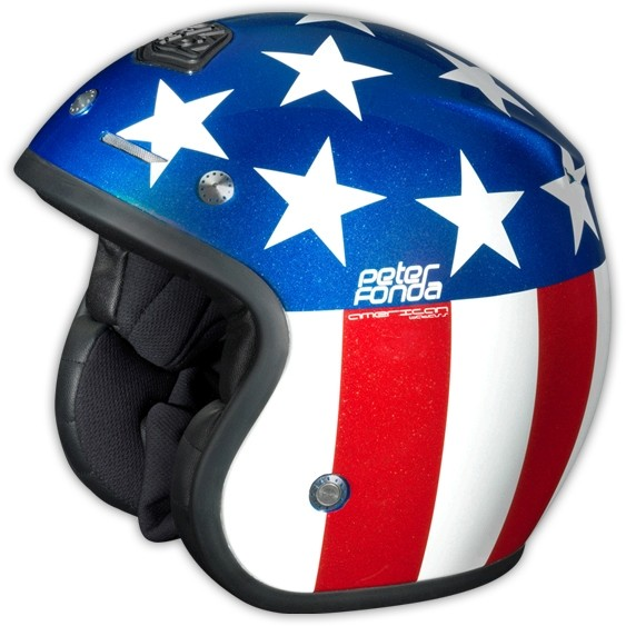 Troy Lee Designs Open Face Peter Fonda Rot Blau
