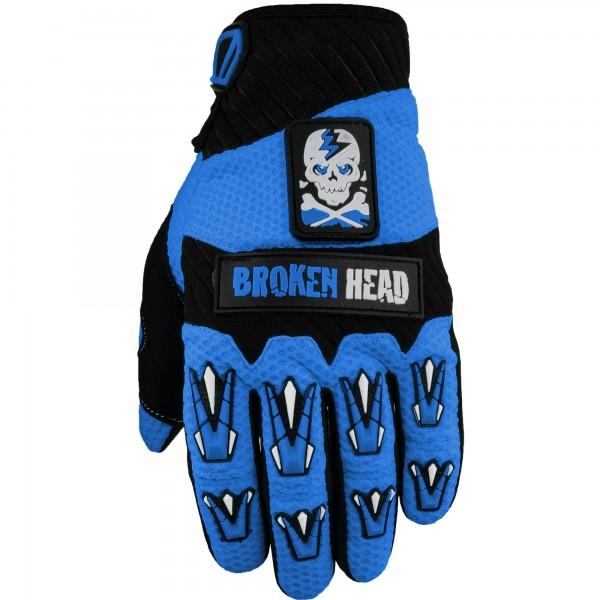 Broken Head MX-Handschuhe Faustschlag Blau