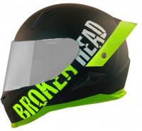 Broken Head BeProud Pro Grün   Limited Color Edition   inkl. schwarzem Visier