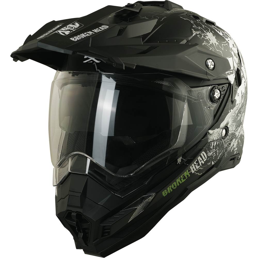 broken head fullgas viking schwarz matt enduro motocross helm. Black Bedroom Furniture Sets. Home Design Ideas