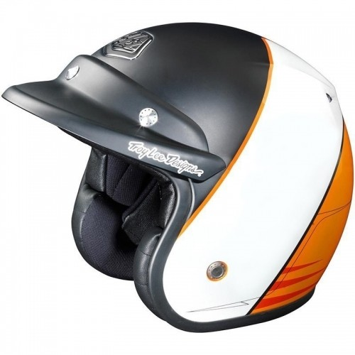 Troy Lee Designs Open Face Mert Lawwill Orange Schwarz (XL)