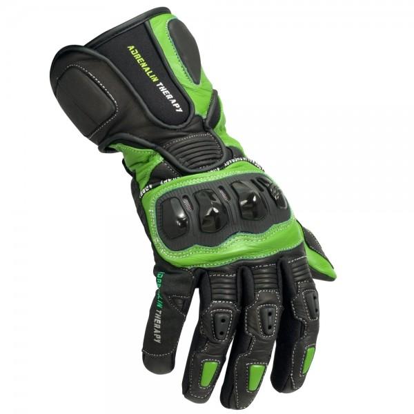 Motorradhandschuhe Adrenalin Therapy schwarz-grün  F2