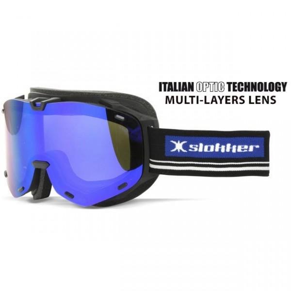 Slokker Skibrille SLK RT schwarz-blau