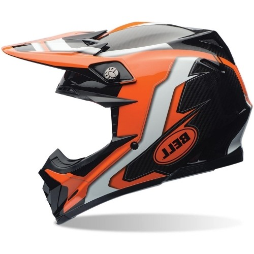 Bell Moto-9 Flex Carbon Factory Orange Schwarz
