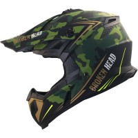 Broken Head Crosshelm Squadron Rebelution Camouflage-Grün-Gold