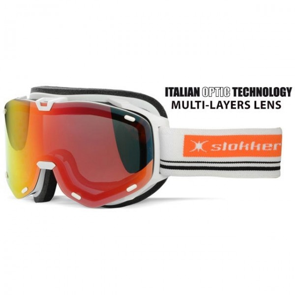 Slokker Skibrille SLK RT weiß-orange