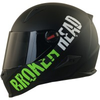 Broken Head BeProud Set Motorradhelm incl. schwarzem Visier